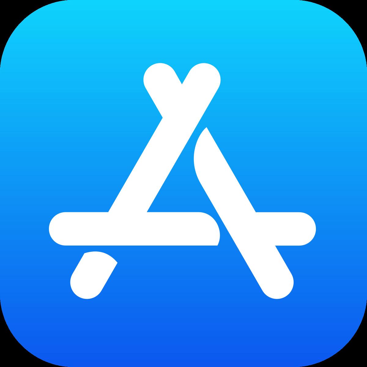 Logo obchodu s aplikacemi Appstore.