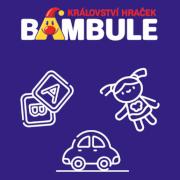 Bambule je české hračkářství, které provozuje e-shop i kamenné prodejny a toto je jeho logo.