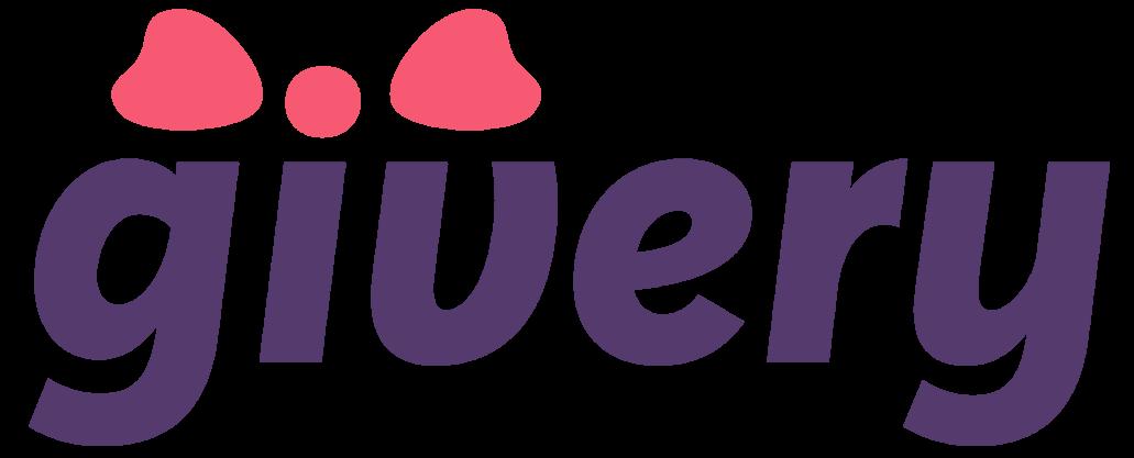 Logo obchodu Givery.cz, ve kterém můžete nakupovat různé dárkové poukazy.
