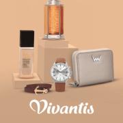 Logo e-shopu Vivantis, ve kterém seženete oblečení, parfémy, kosmetiku nebo hodinky.