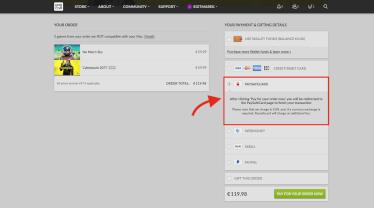 Platba pomocí paysafecard v obchodě GOG.com