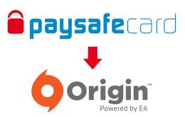 Logo Origin a paysafecard