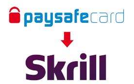 paysafecard a Skrill logo