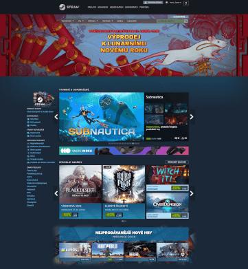 Steam v internetovém prohlížeči