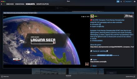 Příspěvek v sekci komunita v aplikaci Steam.