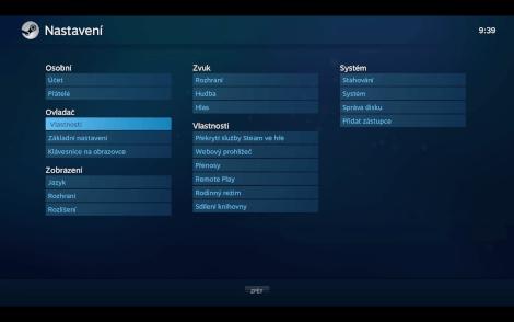 V režimu Big Picture zvládnete v pohodě změnit dokonce i libovolné nastavení Steamu.