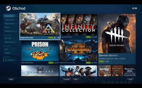 Režim Big Picture umožní také snadno nakoupit nové hry.