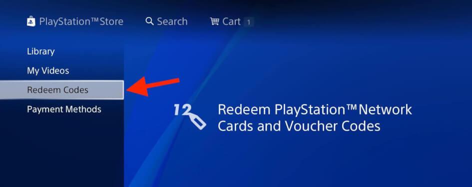 Uplatnění kódu v PlayStationu