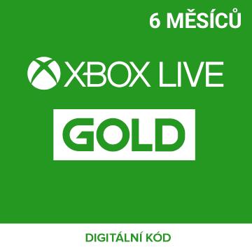 Xbox Live Gold 6 měsíců