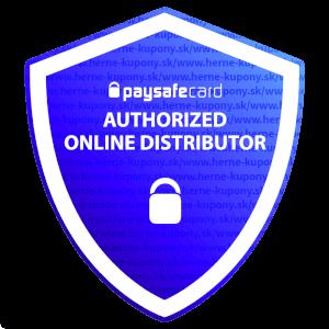 Badge pre oficiálneho predajca paysafecard.