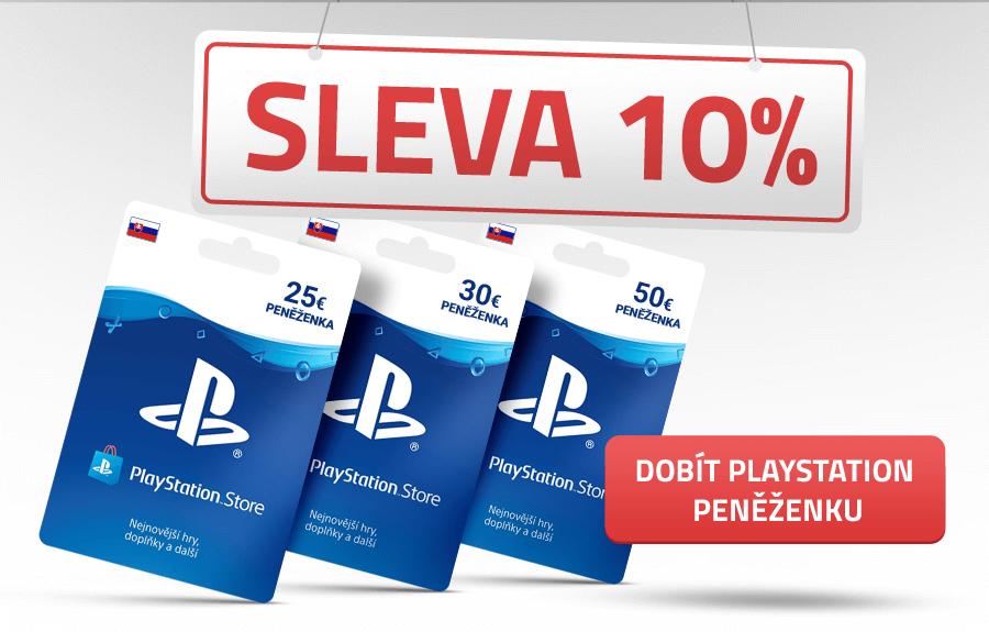 PlayStation peněženka kupony nyní ve slevě 10 %