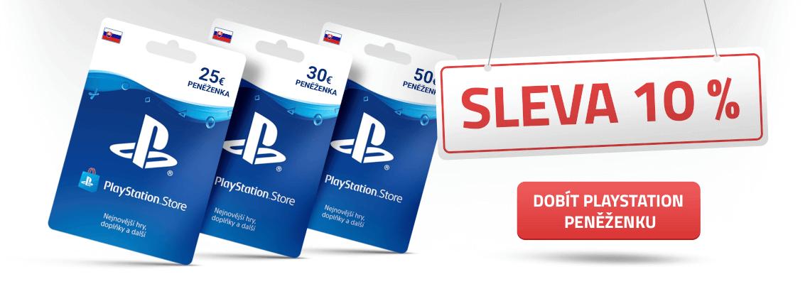 Akce na kupony do PlayStation peněženky.